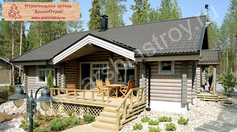 проекты гостевых домов с баней в финском стиле
